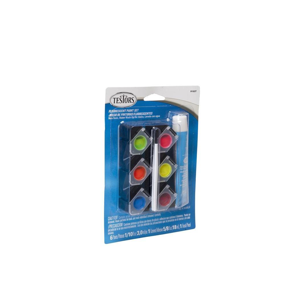 0.10 oz. 6-Color Acrylic Paint Pod Set Fluorescent Colors (12-Pack)