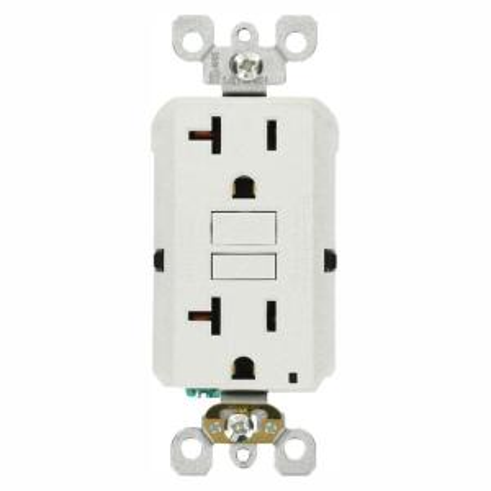 20 Amp Self-Test SmartlockPro Slim GFCI Duplex Outlet, White (3-Pack)