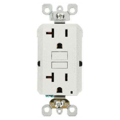 20 Amp Self-Test SmartlockPro Slim GFCI Duplex Outlet, White (3-Pack)