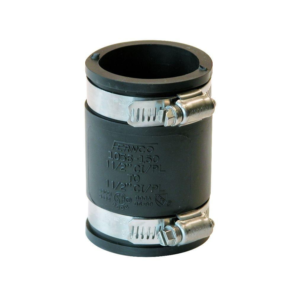 Fernco 1-1/2 in  x 1-1/2 in  DWV Flexible PVC Coupling