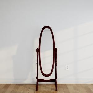 Click here to buy  59-1/4 inch H x 20 inch W Cheval Framed Floor Mirror in Cherry.