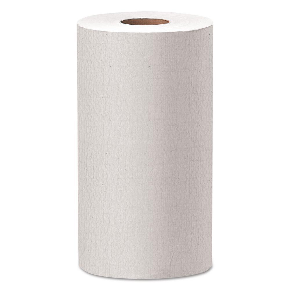 9 4/5 x 13 2/5 X60 Wipers, Small Roll, White, 130/Roll, 12 Rolls Per Carton