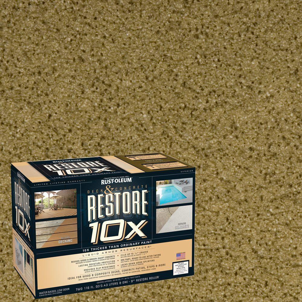 Rust-Oleum Restore 2-gal. Sage Deck and Concrete 10X Resurfacer