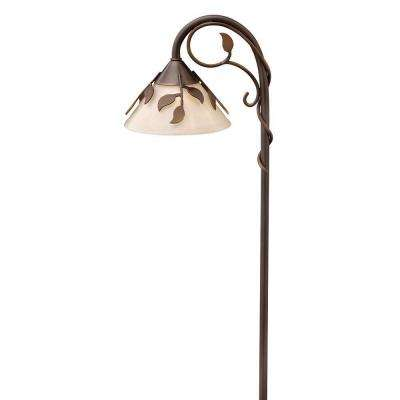 Low-Voltage 18-Watt Copper Bronze Ivy Outdoor Pathway Light Fixture