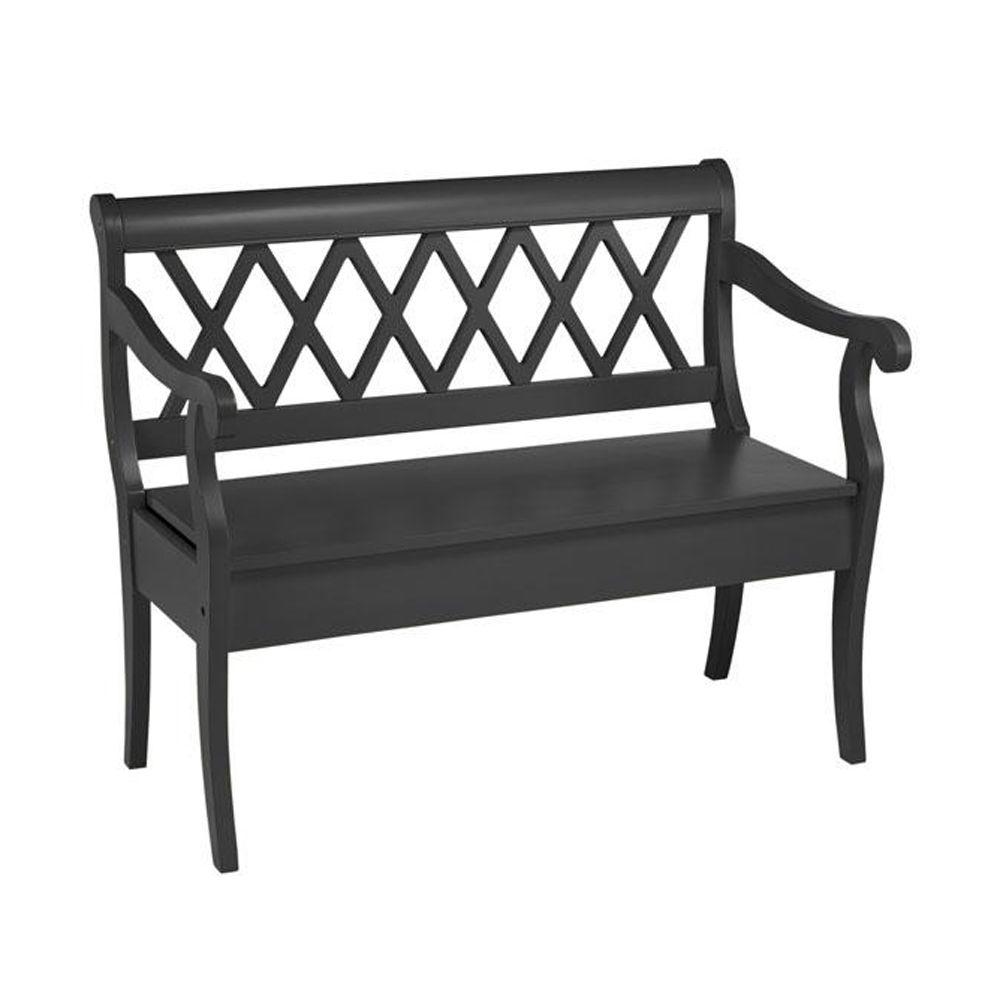 Home Decorators Collection Cottage Black 42.5 in. W Bench