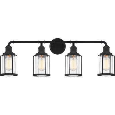 Ludlow 4-Light Earth Black Vanity Light