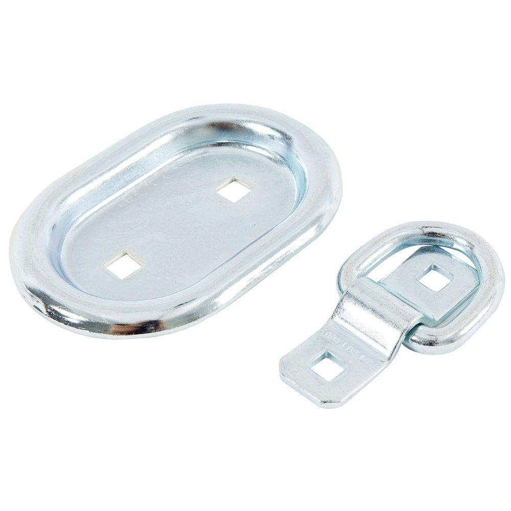 4 in. Oval Plate Recessed Anchor