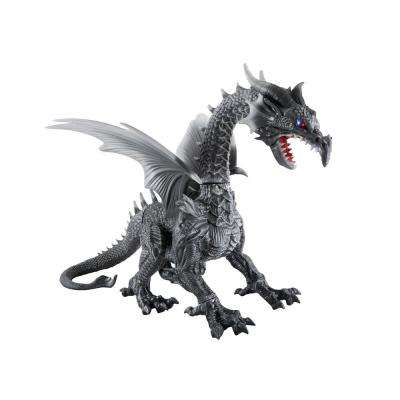 69 in. Animated Giant Dragon in Grey without Fog Machine