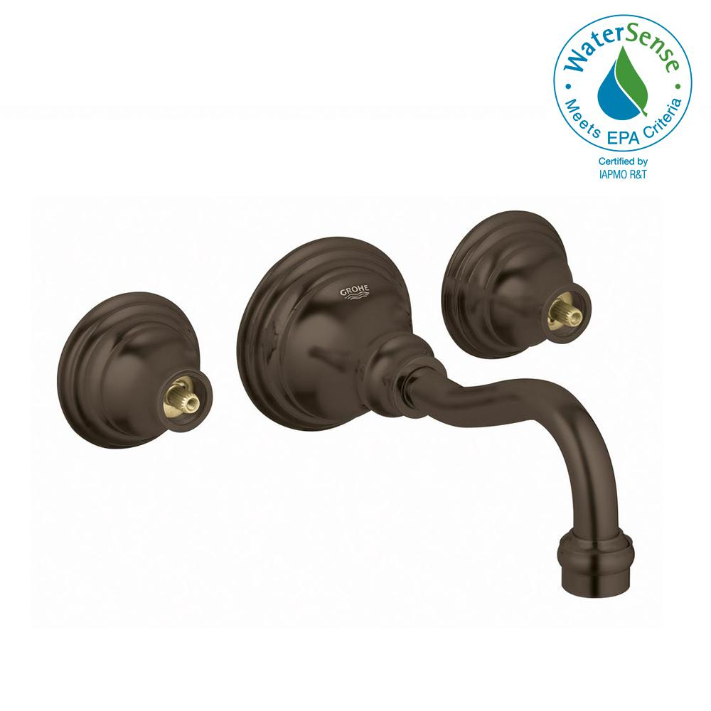 Bridgeford 2-Handle Wall Mount Bathroom Faucet in Oil Rubbed Bronze