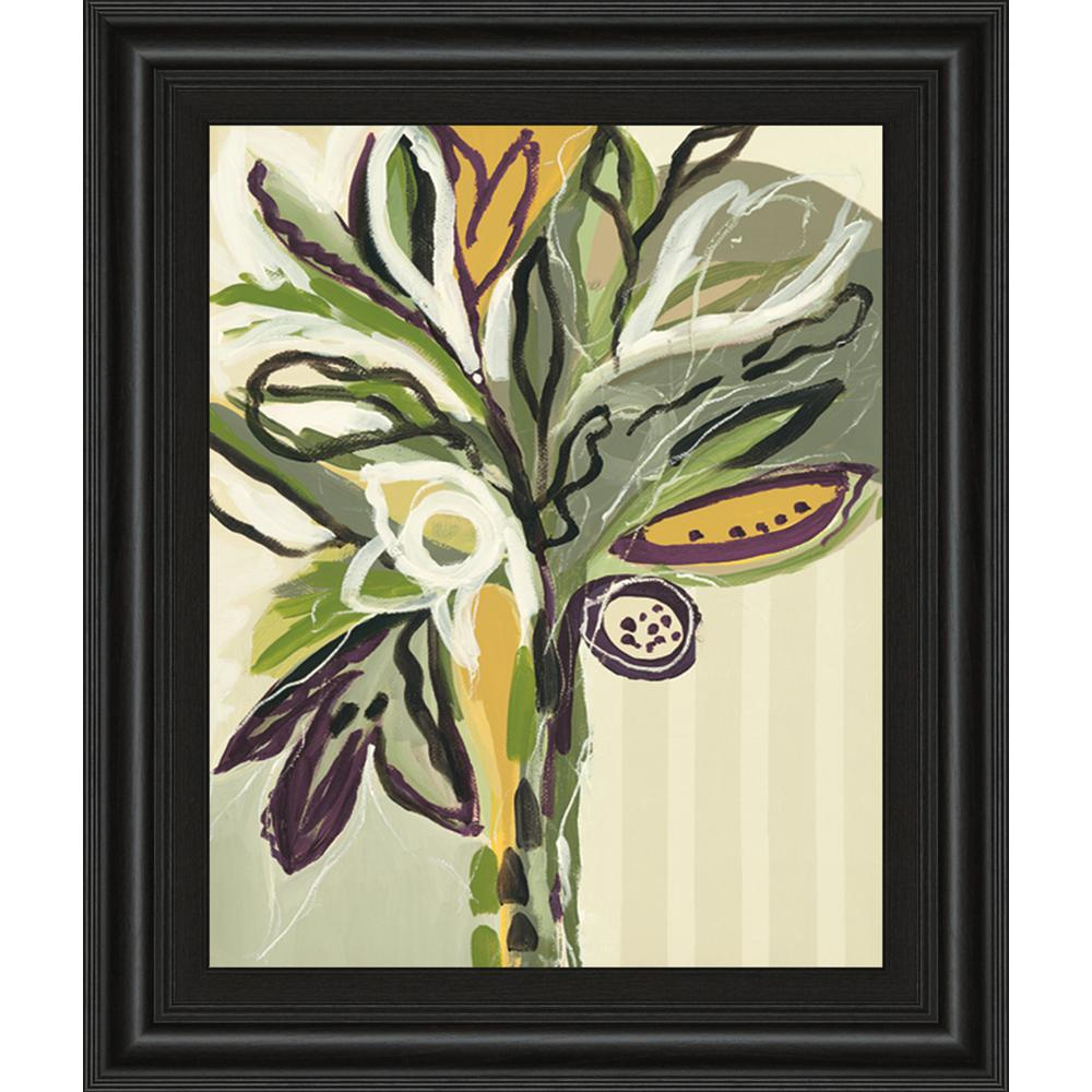 """22 in. x 26 in. """"Serene Floral II"""" by A. Maritz Framed Printed Wall Art"""
