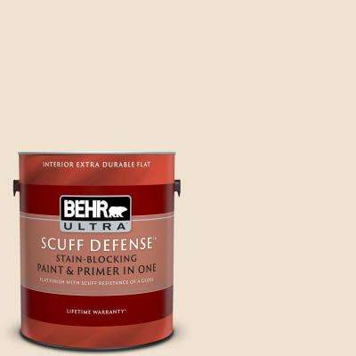 1 gal. #S280-1 Buckwheat Flour Extra Durable Flat Interior Paint and Primer in One