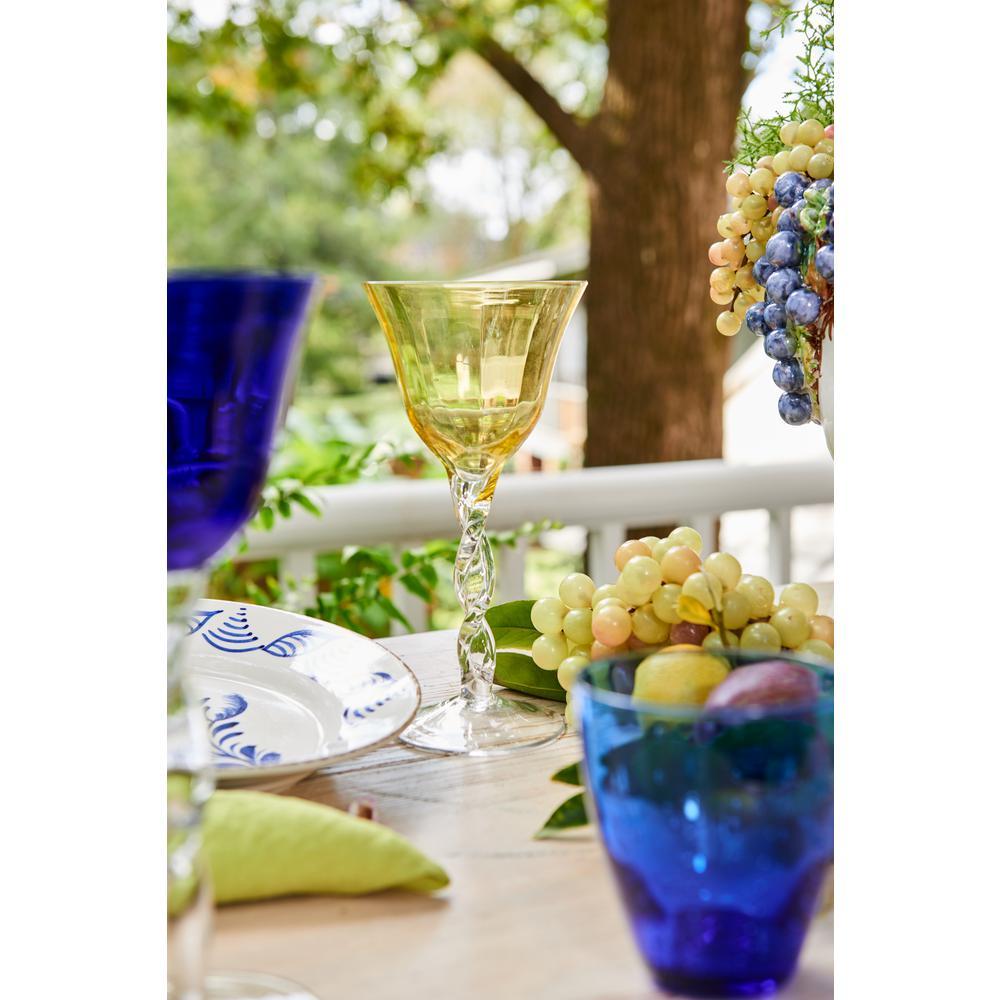 Adriana Wine Glass, Yellow Top