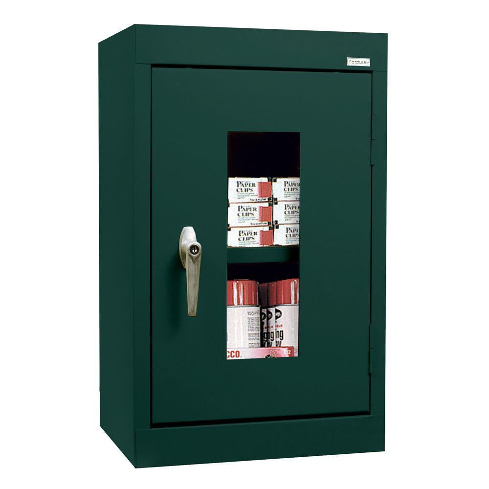 Sandusky 26 in. H x 16 in. W x 12 in. D Clear View Wall Cabinet in Forest Green