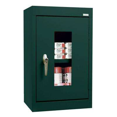 26 in. H x 16 in. W x 12 in. D Clear View Wall Cabinet in Forest Green