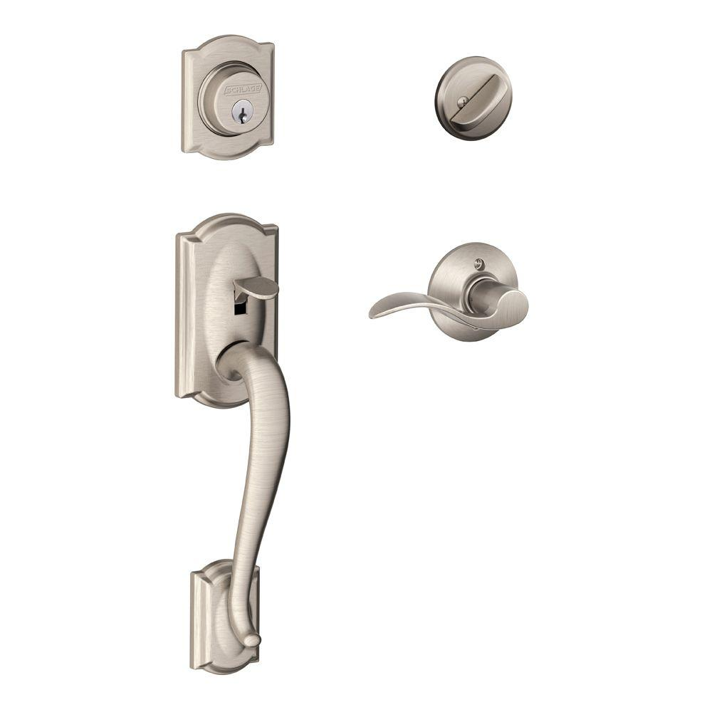 Schlage Camelot Satin Nickel Single Cylinder Deadbolt With