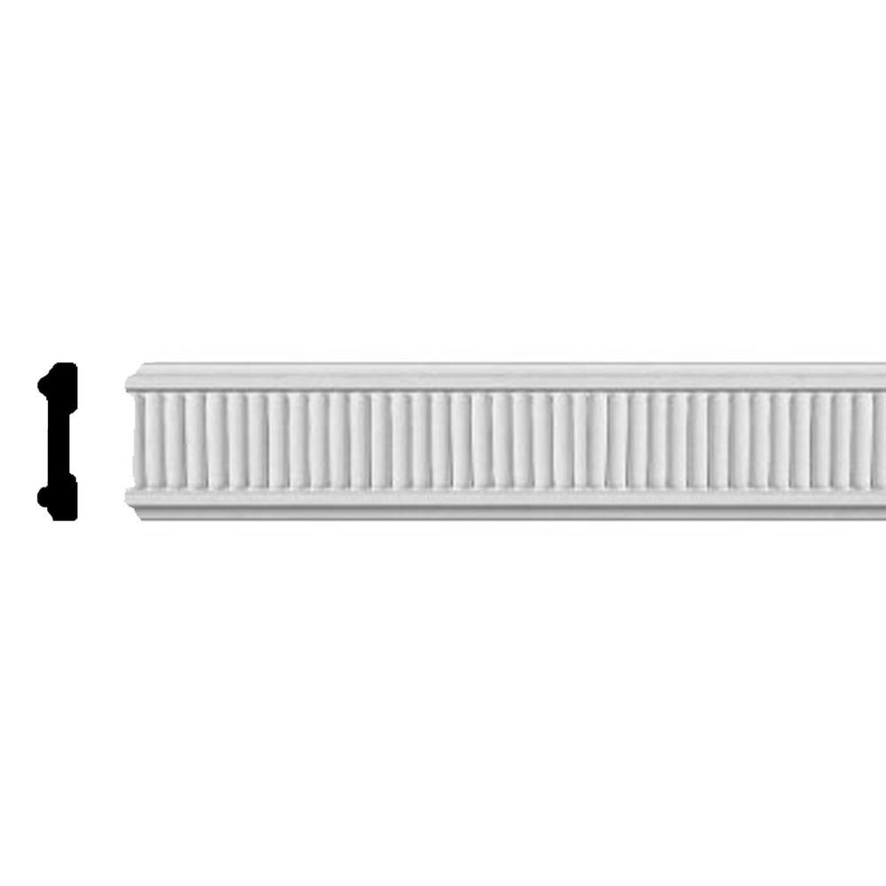 5/8 in. x 3 in. x 96 in. Polyurethane Nevio Chair Rail Moulding