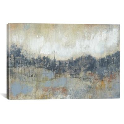 """Cool Grey Horizon I"" by Jennifer Goldberger Canvas Wall Art"