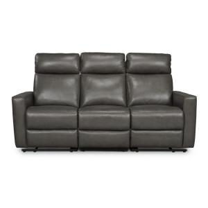 HOMESTYLES Nuovo 3-Piece Gray Leather Power Motion Reclining ...