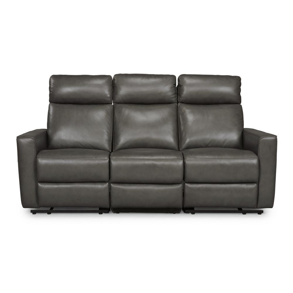 Admirable Homestyles Nuovo 3 Piece Gray Leather Power Motion Reclining Frankydiablos Diy Chair Ideas Frankydiabloscom