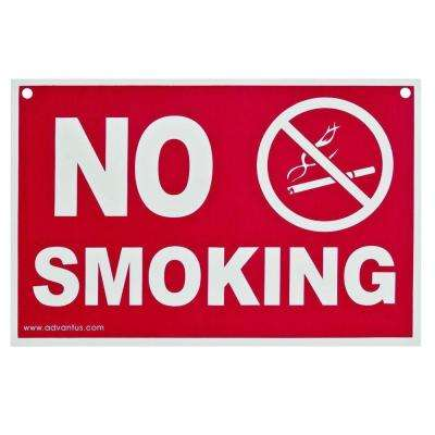 8 in. x 12 in. No Smoking Wall Sign
