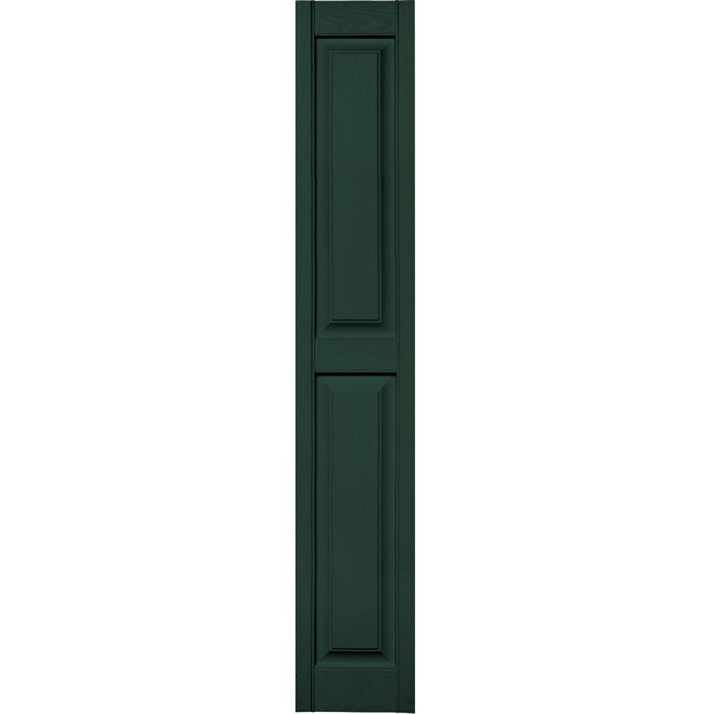 Builders Edge 12 in. x 71 in. Raised Panel Vinyl Exterior Shutters ...