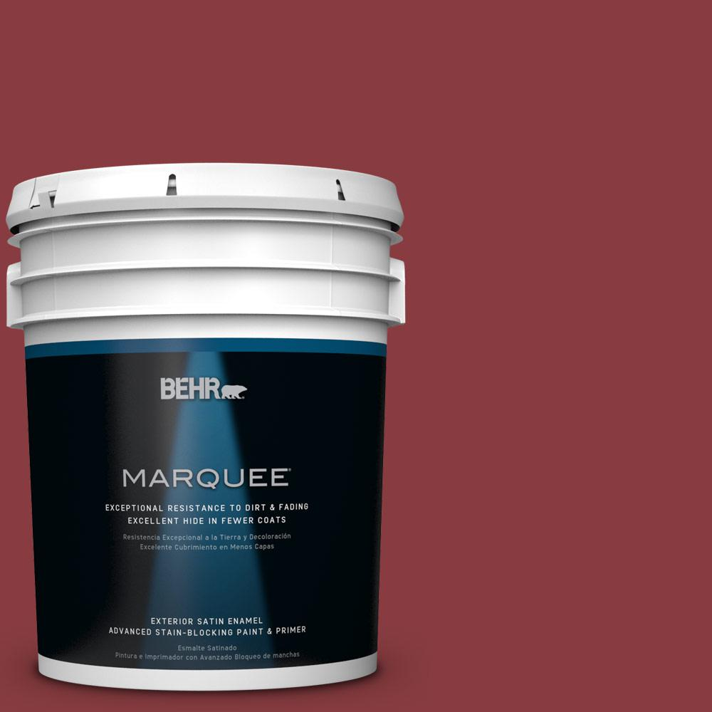 BEHR MARQUEE Home Decorators Collection 5-gal. #HDC-WR14-11 Cranberry Tart Satin Enamel Exterior Paint