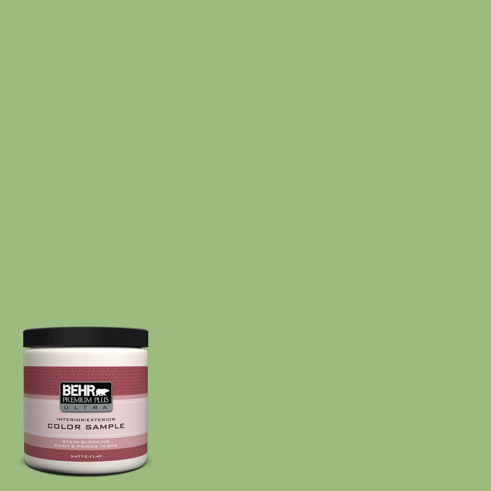 8 oz. #P380-5 Gleeful Flat Interior/Exterior Paint and Primer in One