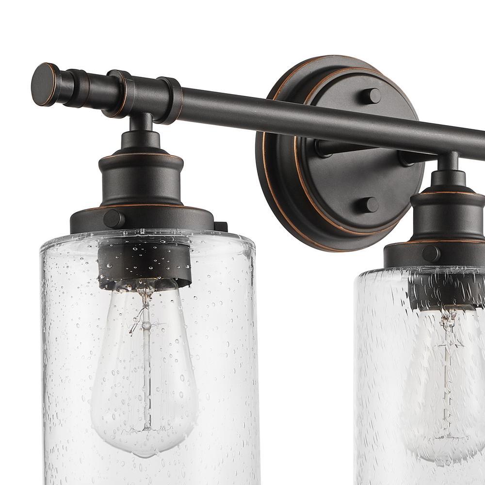 Camden 5-Piece All-In-One Bronze Bathroom Vanity Light Set