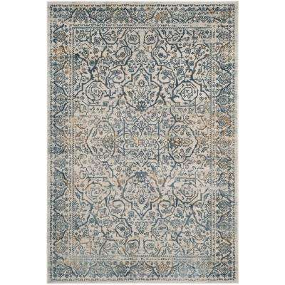 Princeton Cream/Slate 5 ft. x 8 ft. Area Rug