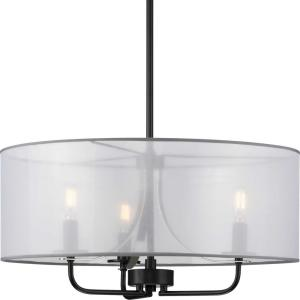 Riley Collection 3-Light  Black Pendant