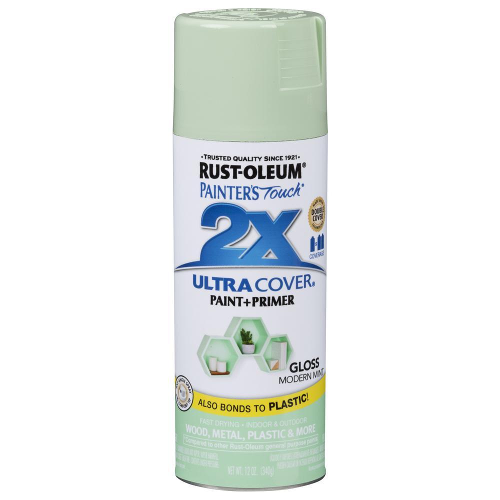 12 oz. Gloss Modern Mint General Purpose Spray Paint (6 Pack)