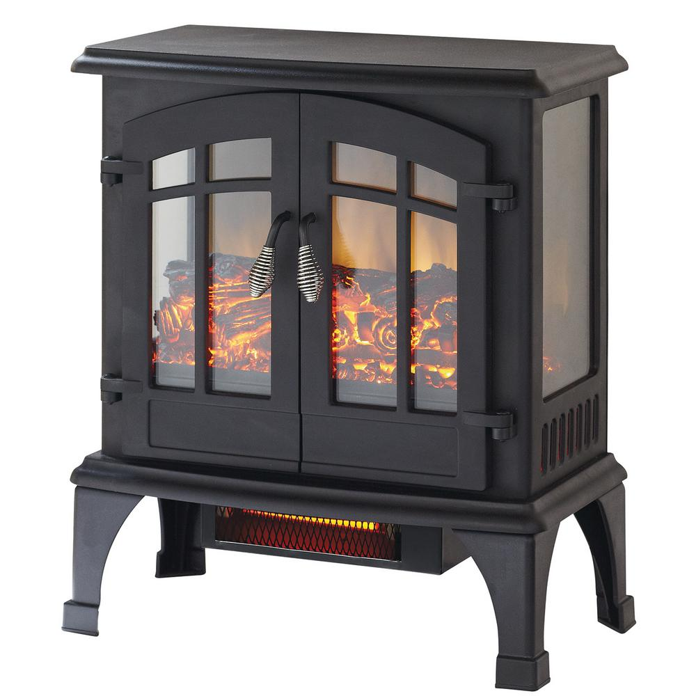 Electric Fireplace Freestanding Portable Home Warmer Old