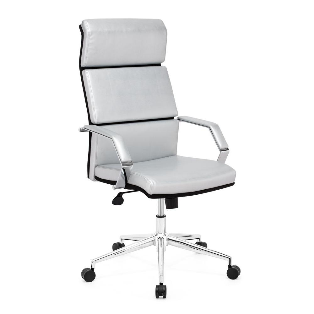 ZUO Lider Pro Silver Office Chair