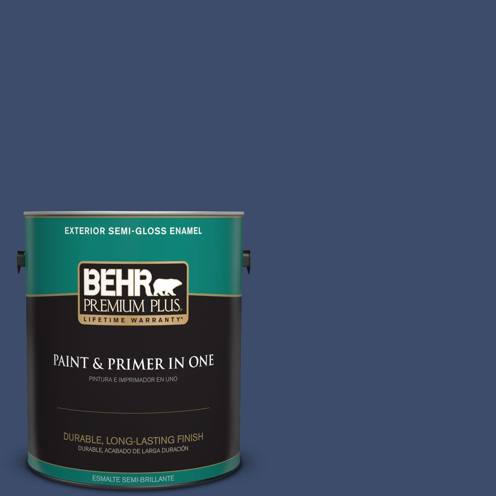 1 gal. #HDC-SM16-08 Blackberry Cobbler Semi-Gloss Enamel Exterior Paint