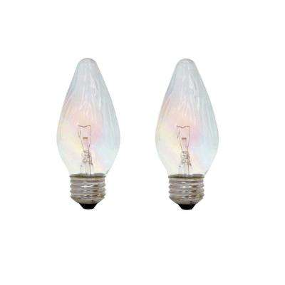 40-Watt Incandescent F15 Flame Tip Decorative Auradescent Light Bulb (2-Pack)