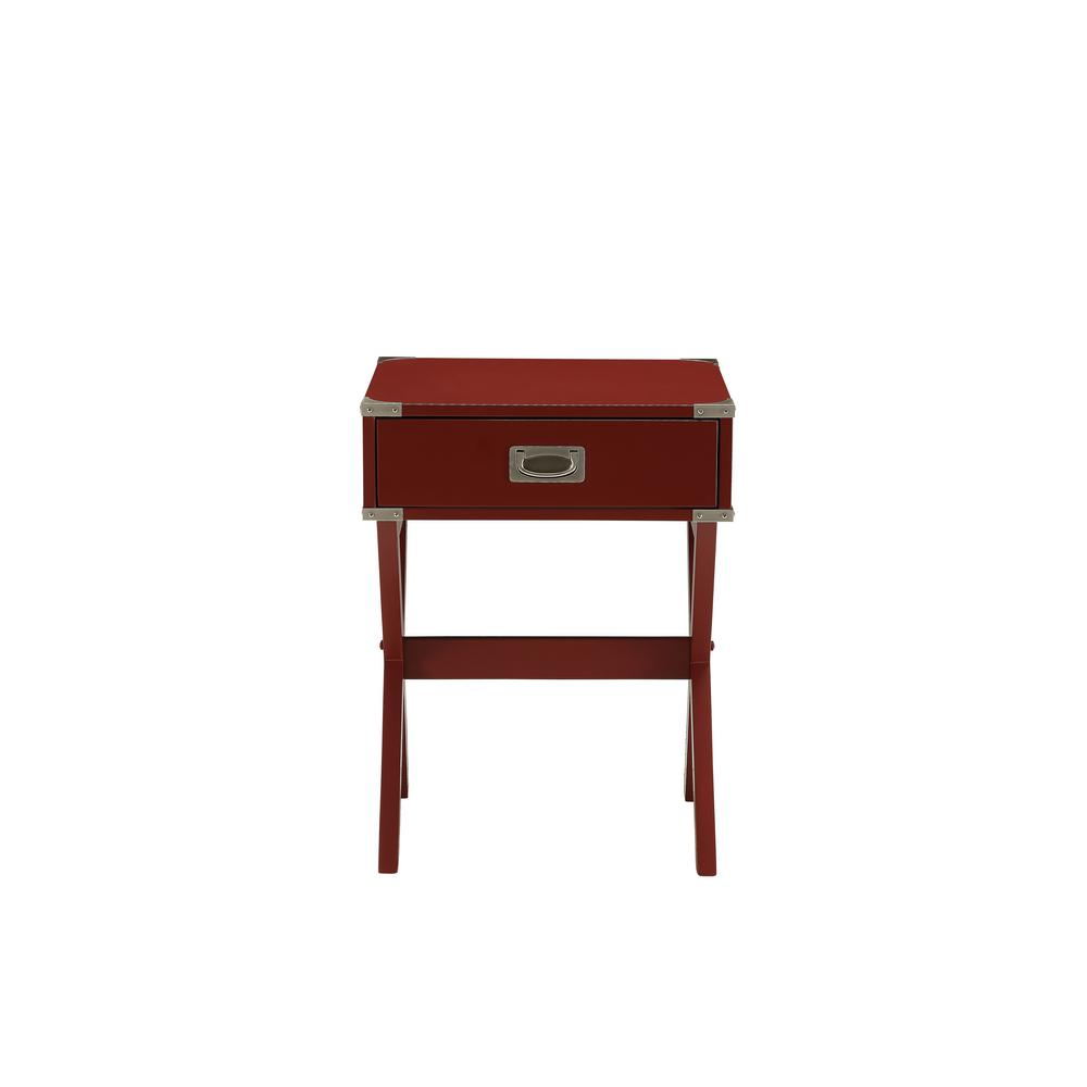 Babs Red Storage End Table