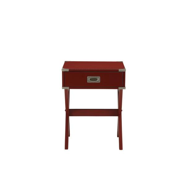 ACME Furniture Babs Red Storage End Table 82820