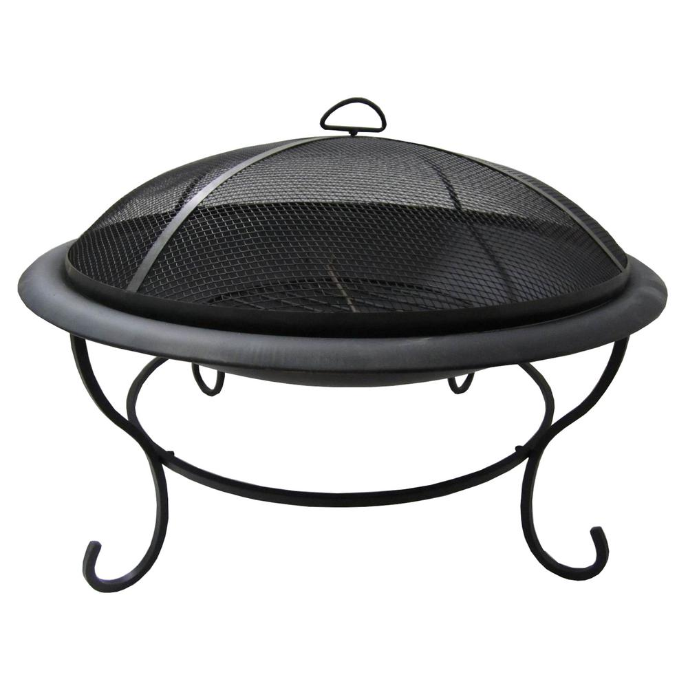 Crawford & Burke Mauna Loa 29.5 in. Circular Metal Wood Burning ...