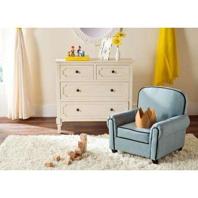Tiny Tycoon Blue Upholstered Kids Chair