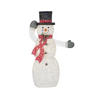 Deals on Home Accents Holiday 62.5 in. Warm LED Animated PVC Snowman