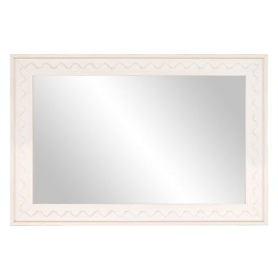 Medium Rectangle White Mirror (23.75 in. H x 36 in. W)
