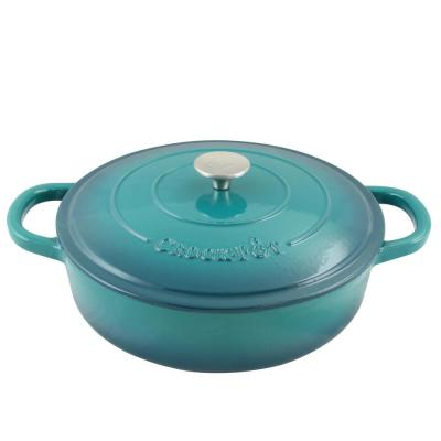 Artisan 5 Qt. Enameled Cast Iron Braiser Pan with Self Basting Lid