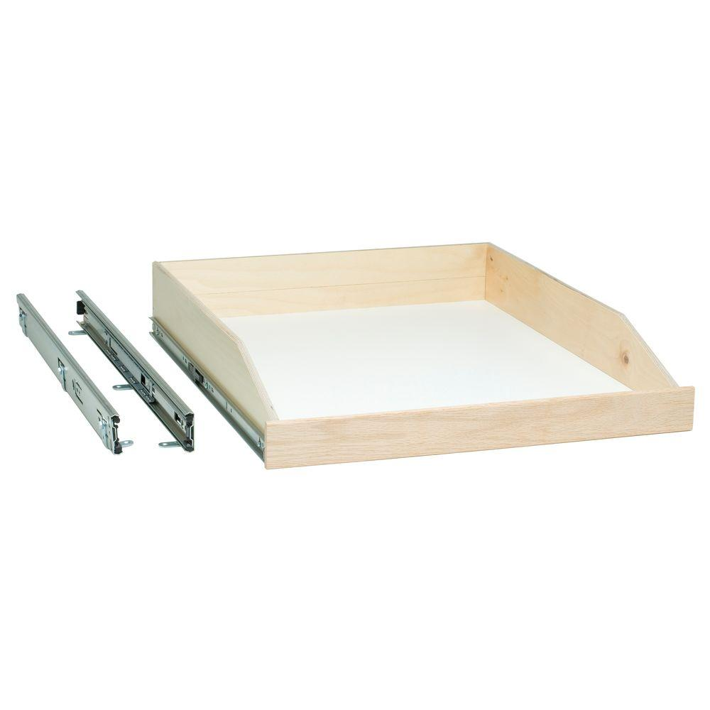 SlideAShelf Slide-A-Shelf Made-To-Fit Slide-Out Shelf, Full Extension, Ready To Finish Oak Front