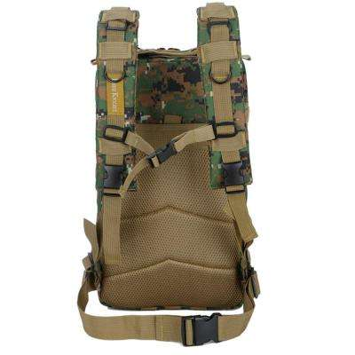 FK9251 30L 3P Outdoor Marching Knapsack Tactical 9 in. Jungle Camouflage Backpack