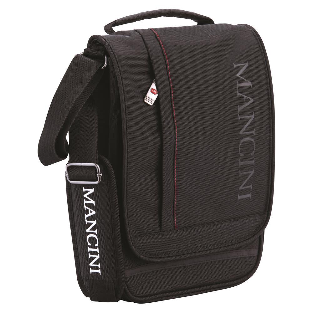 Messenger Style Black Unisex Bag for 11 in. Tablet/E-Reader with RFID Secure Pocket