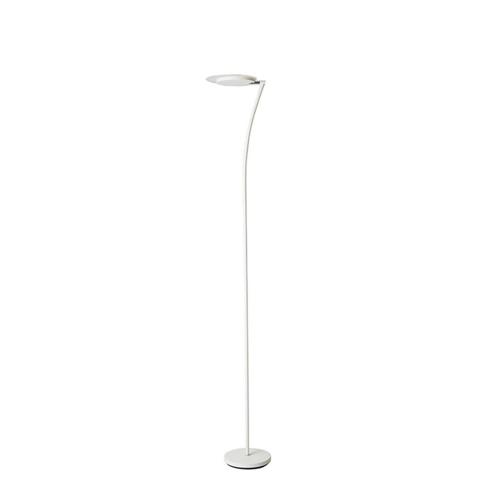 73 in. Matte White LED Adjustable Torchiere Floor Lamp