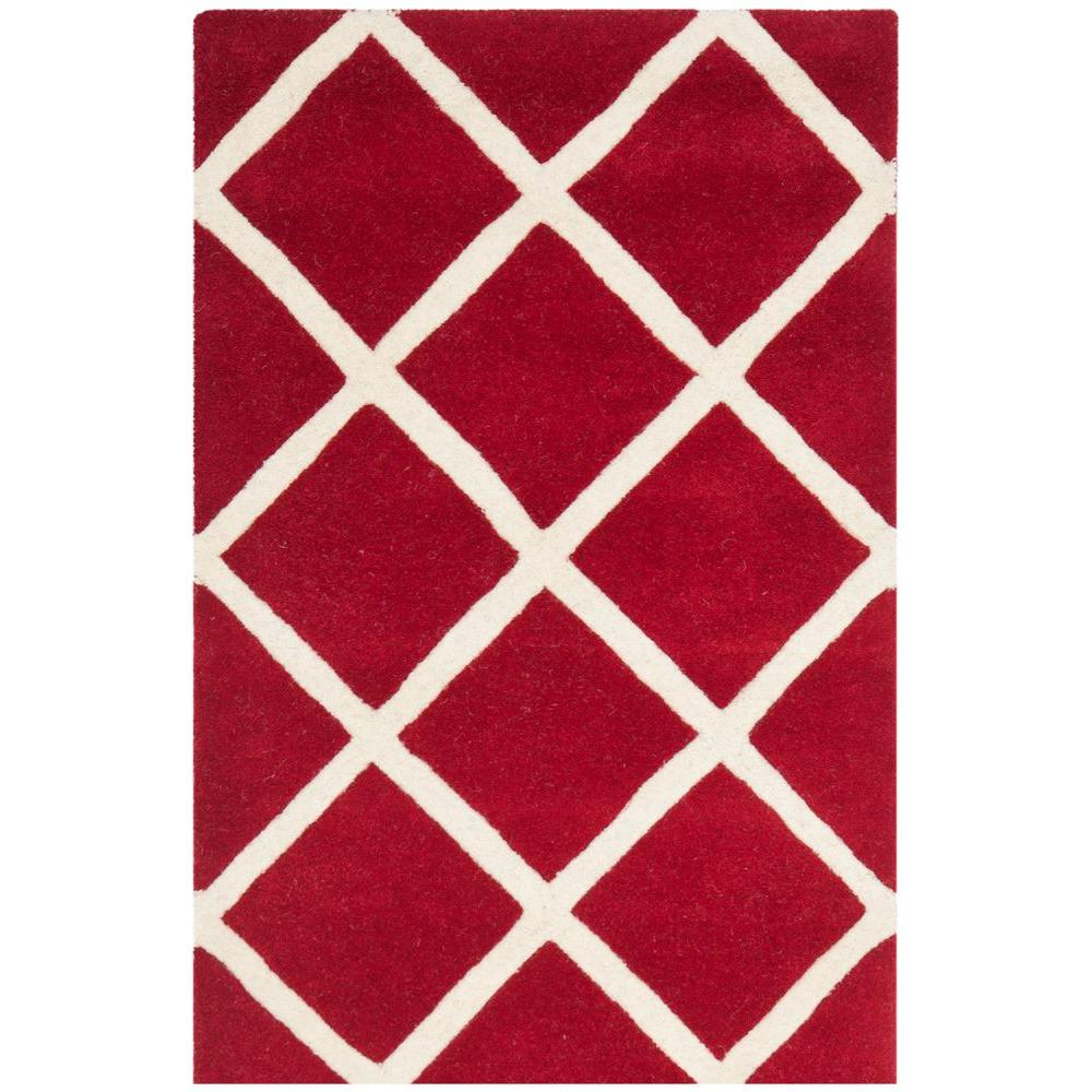 Safavieh Chatham Red/Ivory 4 ft. x 6 ft. Area Rug