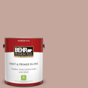 Behr Premium Plus 5 Gal Icc 53 Cozy Blanket Flat Low Odor Interior Paint And Primer In One 140005 The Home Depot