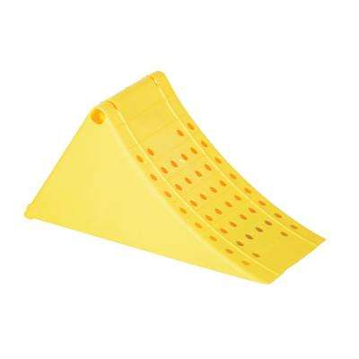 Large Yellow Plastic Wheel Chock
