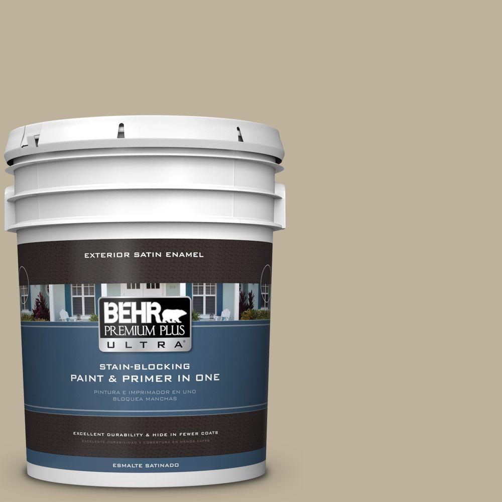 BEHR Premium Plus Ultra 5-gal. #770D-4 Clay Pebble Satin Enamel Exterior Paint